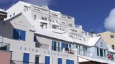 maritime territory : Establishing shot of traditional building in Hamilton, capital of Bermuda Stock Footage