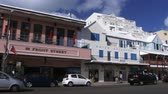 maritime territory : Establishing shot of main street in Hamilton, capital of Bermuda