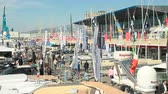 guincho : Panoramic view of Genoa Boat Show, the most important exhibition of boats in Italy Vídeos