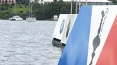bermudas : Americas Cup sailing series buoys in Bermuda, ready for regatta