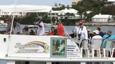 denizci : People on a boat attend Americas Cup World Series in Hamilton, Bermuda