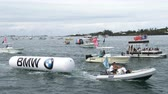 bermudas : Americas Cup organization pulls a buoy during World Sailing Series in Hamilton, Bermuda