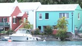 Boat docked in small bay in Flatts Village, Bermuda