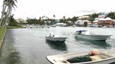 bermudas : Small boats docked in a bay in Flatts Village, Bermuda