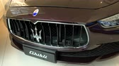 vysvětlující : Detail of the front area of ??a luxurious Maserati Ghibli