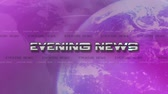 manchete : Evening News 4K Animation - Lens Flare Reveals Text - Pink