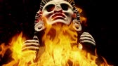 diety : Ancient Mayan Figure In Flames Dostupné videozáznamy