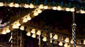 movimentar se : Fairground Ride Lights Closeup