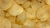 fried potatoe : Chips Rotating Stock Footage