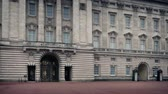 marches : Buckingham Palace With Guard Marching Stock Footage