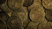 tesouro : Historic Gold Coins Closeup