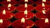 catholic church : Red Candles In The Dark