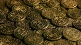 pirata : Pirate Coins In Pile Turning Slowly