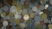 kupa : Mixed Old Coins Rotating Wideo