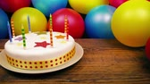 детский : Birthday Cake On Table With Balloons