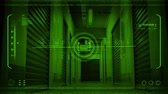 pelúcia : Night Vision POV Moving Through Storage Facility Stock Footage