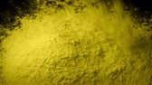 genético : Yellow Powder Is Poured Into Pile