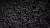 kireç : Black Foam With Bubbles Popping