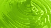 ebilmek : Green Paint Pouring Closeup Stok Video