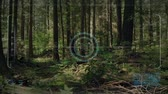 recon : Drone HUD Display Flying In The Forest