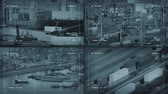 surveillance : CCTV Screens Showing Industrial Areas