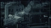 vapor steam : CCTV Smoking Industrial Facility Stock Footage