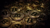 Pile Of Bitcoins In Dramatic Lighting