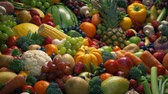 свалили : Fruits And Vegetables Mixture Moving Shot