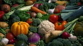 veg : Glistening Wet Vegetables In Massive Spread