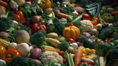 Vegetables In Artistic Display Stock Footage