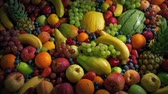 Glistening Fruit Pile Healthy Diet Concept