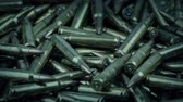 kogels : Bullets Pile - War Conflict Concept Stockvideo