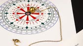 кулон : Astrologer fills horoscope circle for the astrological circle. Close-up
