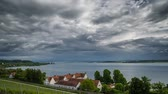 быстро : Storm forming over Lake Constance (Bodensee) Timelapse