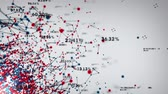 Data and Networks  An abstract representation of the various connection paths within a network. This clip is available in multiple color options and loops seamlessly. Stock Footage