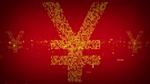europeen : Binary Yen Symbole rouge et or