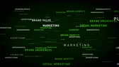 atravessar : Keywords Business Marketing Green - Important terms about business marketing pass through cyberspace. All clips are available in multiple color options. All clips loop seamlessly.