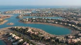рассол : Drone footage of modern city El Gouna in Egypt