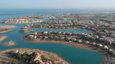 египетский : Drone footage of modern city El Gouna in Egypt