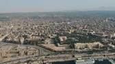 nilo : View of Nile river, Luxor temple and city Luxor in Egypt Stock Footage