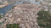 sightseeing : View of Aswan (Egypt), Elephantine island and river Nile Stock Footage