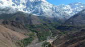 eset : Beautiful Nature of Morocco near Imlil and Mountain Toubkal Stock mozgókép