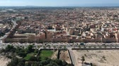 citadel : Flying over a Kasbah and Medina at Morocco with Drone