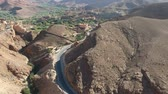 marrocos : Flying over a street near Dades Gorges in Morocco