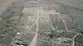 berber : Flying over Volubilis and a Berber and Roman city at Morocco