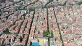 urbane : Flying with Drone over Streets and Houses at City Barcelona | 4k