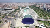 sightseeing : Flying over Bridge in Valencia and Spain with Drone in 4k