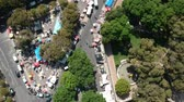 deuxieme : Flying over Second Hand Market in Lisbon and Portugal with Drone Vidéos Libres De Droits