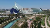 hiszpania : Flying over City of Arts and Sciences at Valencia and Spain with Drone