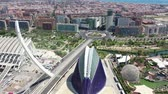 artesão : Flying over Bridge in Valencia and Spain with Drone in 4k
